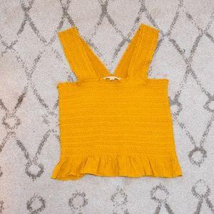 LA Hearts**Yellow Crop Top